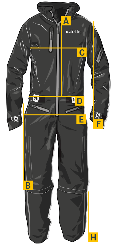 dirtlej  measurements